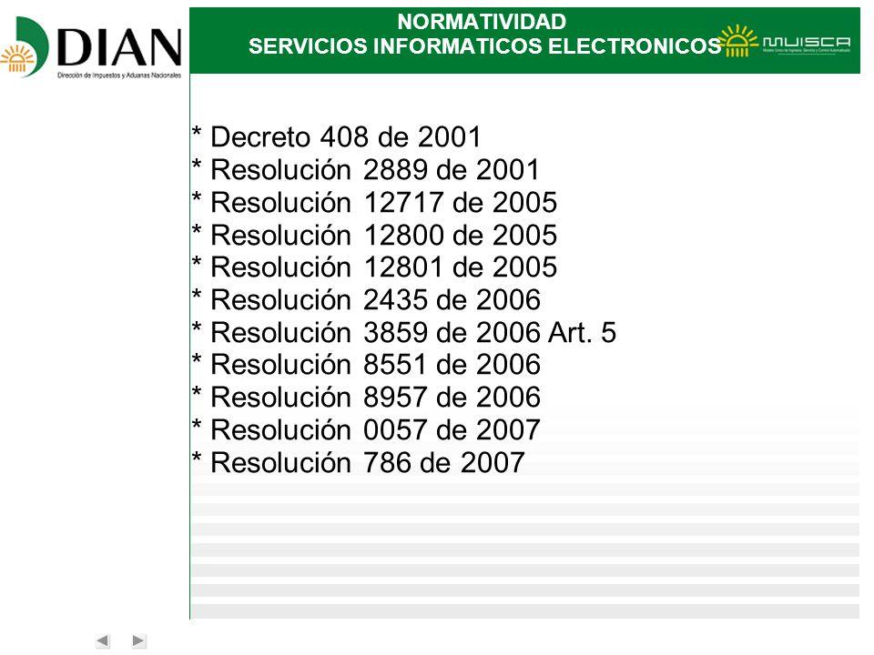 NORMATIVIDAD SERVICIOS INFORMATICOS ELECTRONICOS