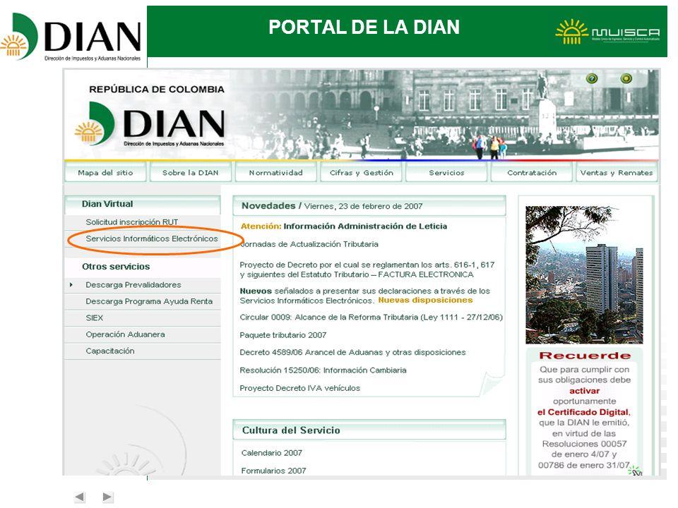 PORTAL DE LA DIAN