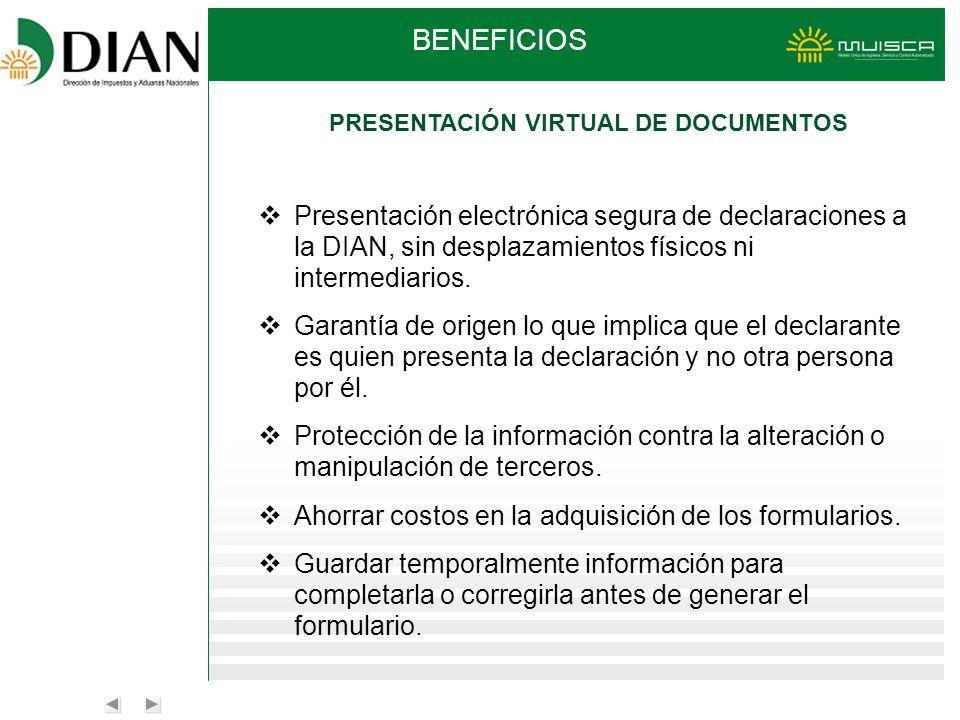 PRESENTACIÓN VIRTUAL DE DOCUMENTOS