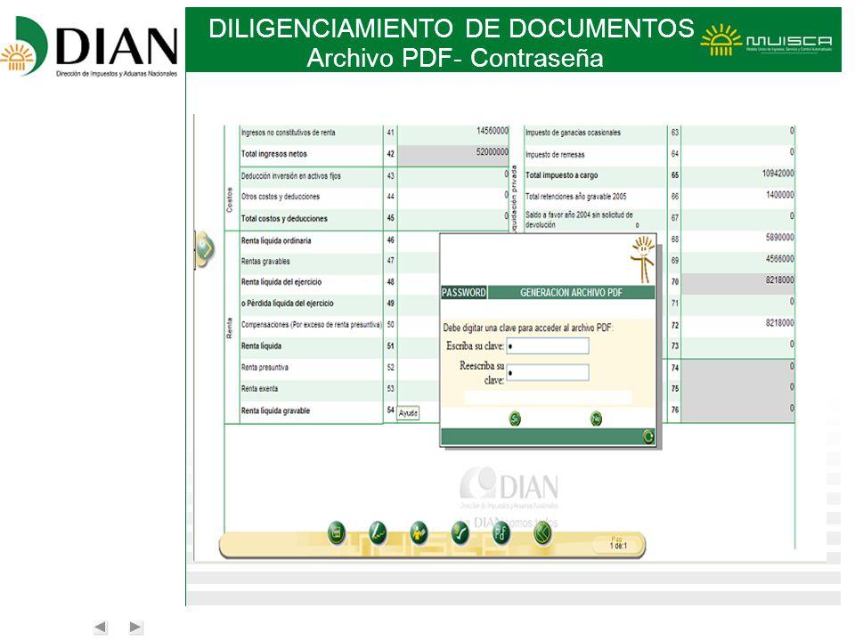 Archivo PDF- Contraseña