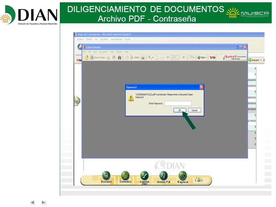Archivo PDF - Contraseña