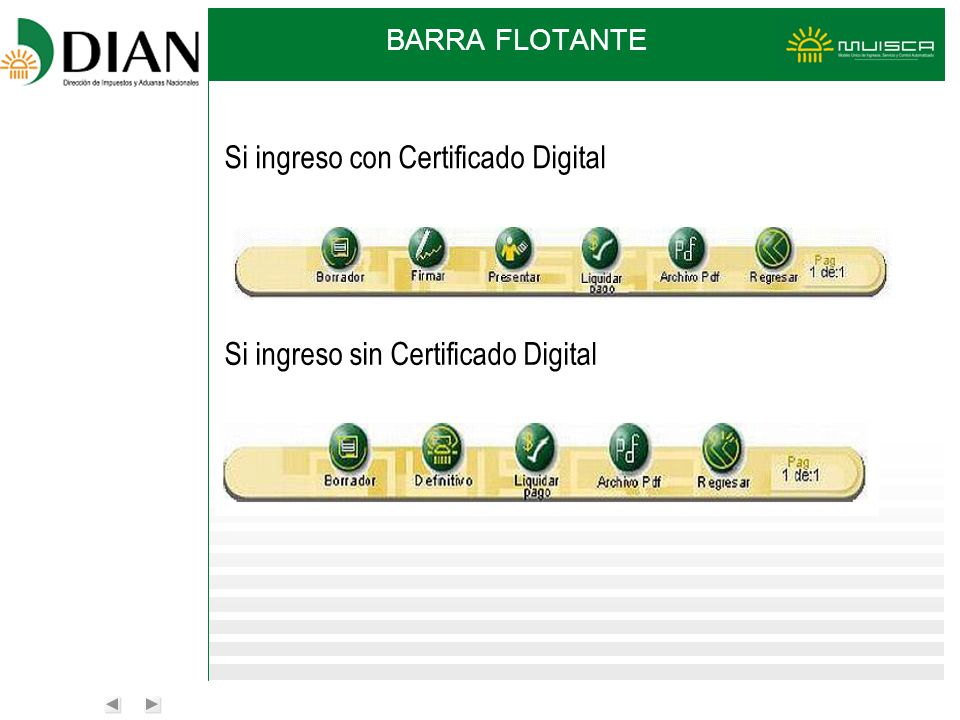 Si ingreso con Certificado Digital