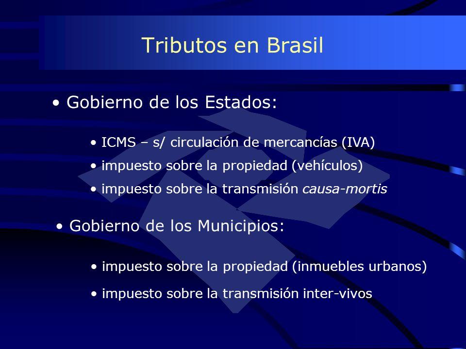 Tributos en Brasil Gobierno de los Estados: