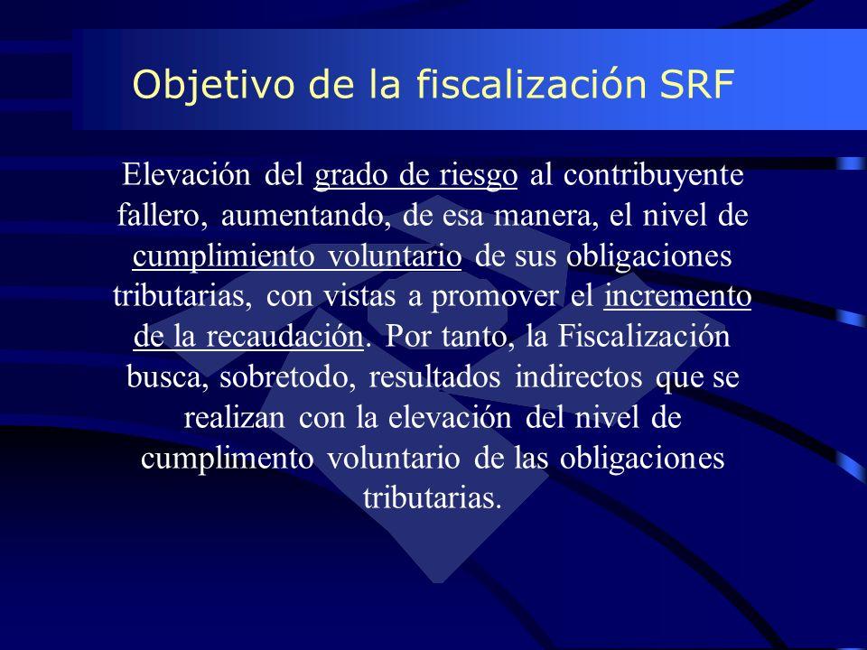 Objetivo de la fiscalización SRF