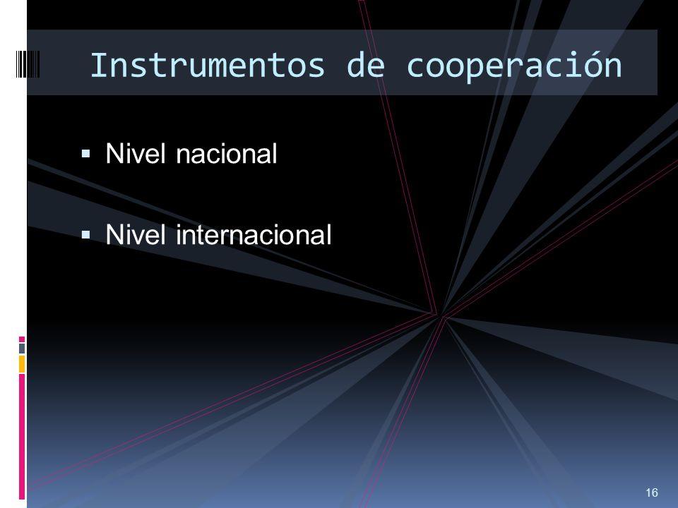 Instrumentos de cooperación