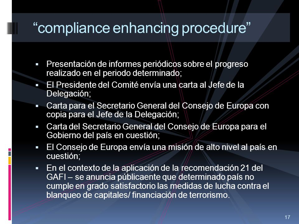 compliance enhancing procedure