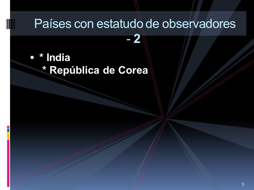 Países con estatudo de observadores - 2