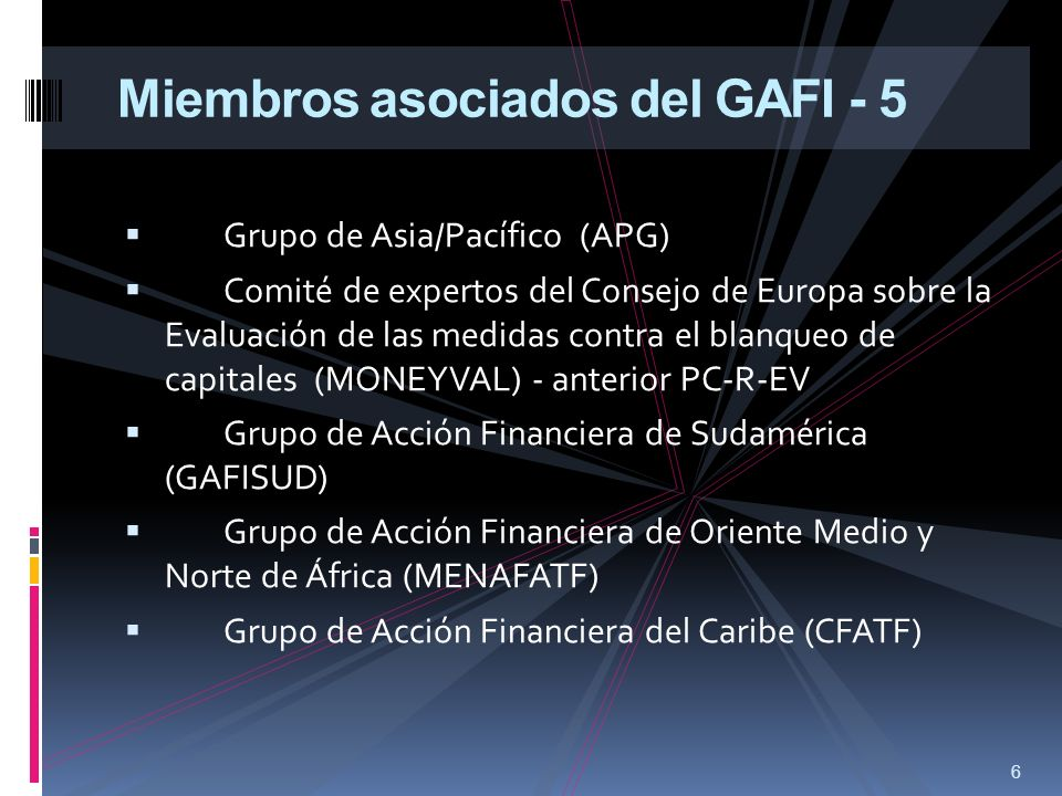 Miembros asociados del GAFI - 5