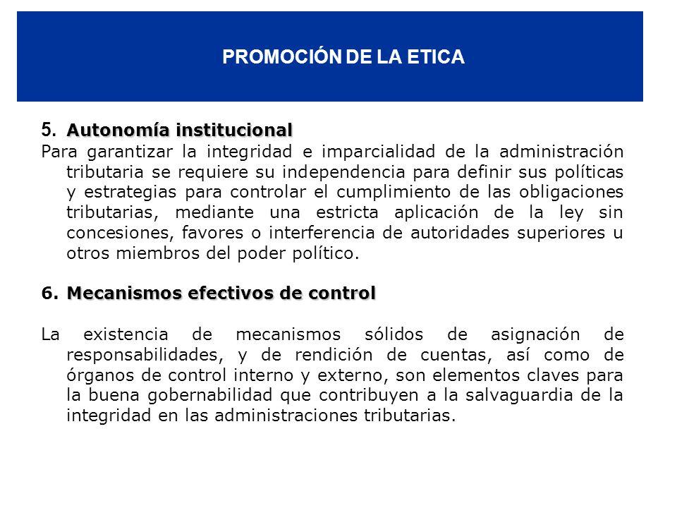 5. Autonomía institucional