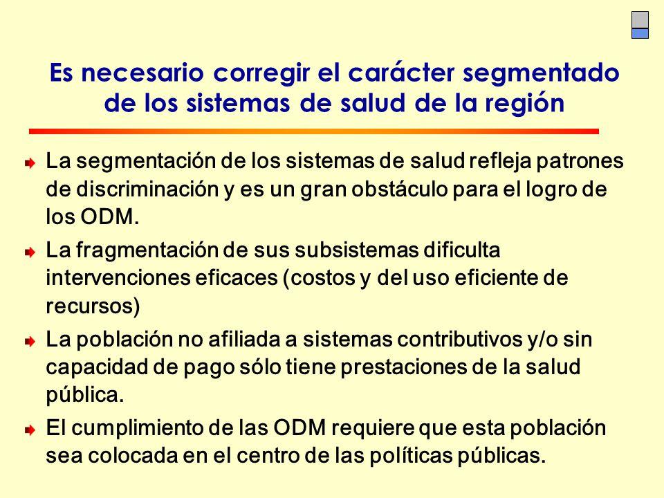 Es necesario corregir el carácter segmentado de los sistemas de salud de la región