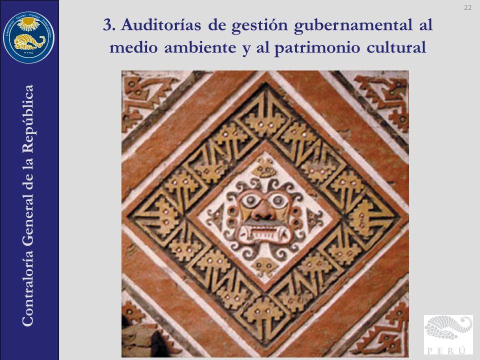 3. Auditorías de gestión gubernamental al medio ambiente y al patrimonio cultural