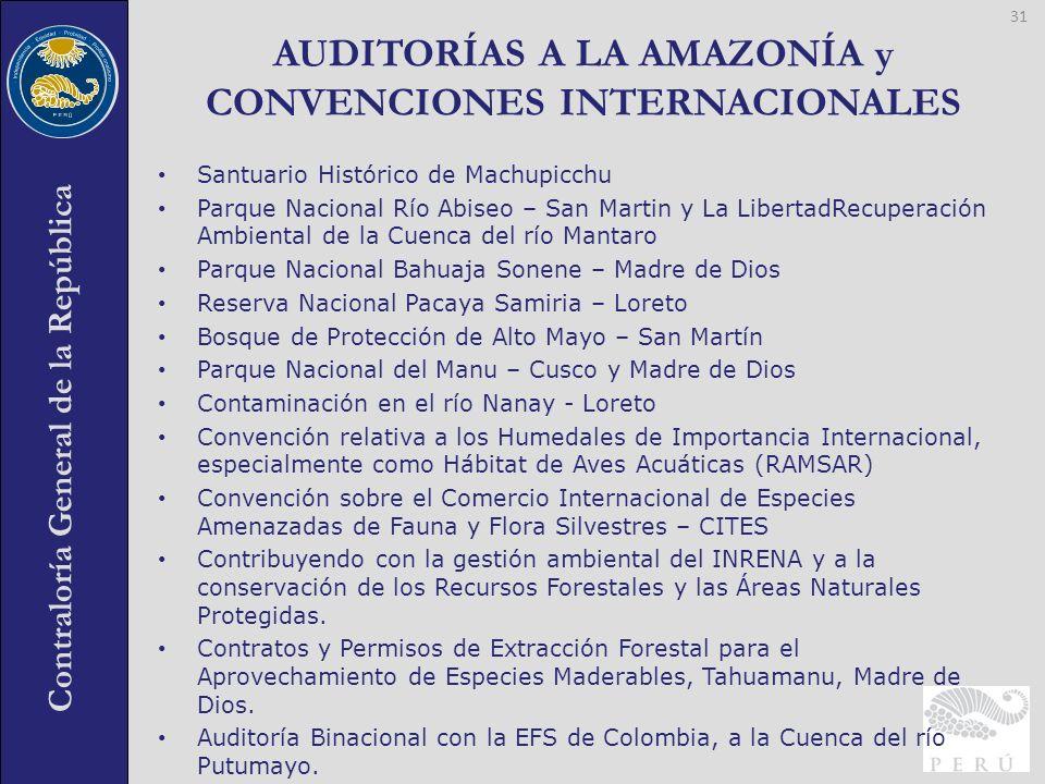 AUDITORÍAS A LA AMAZONÍA y CONVENCIONES INTERNACIONALES