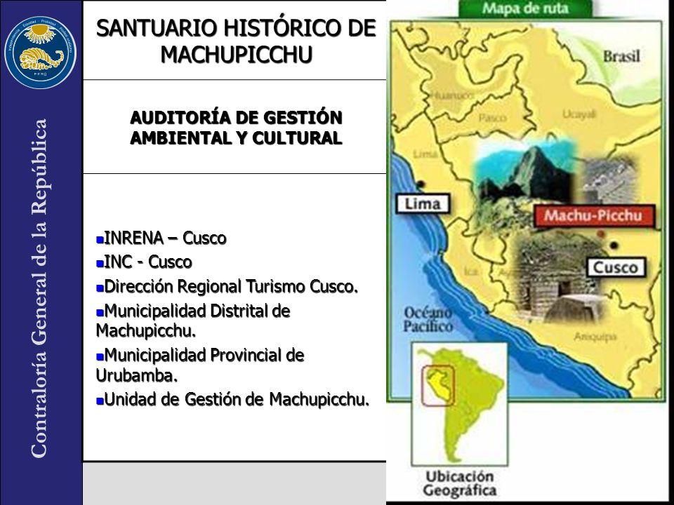 AUDITORÍA DE GESTIÓN AMBIENTAL Y CULTURAL