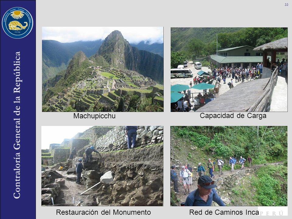 Machupicchu Capacidad de Carga Restauración del Monumento Red de Caminos Inca