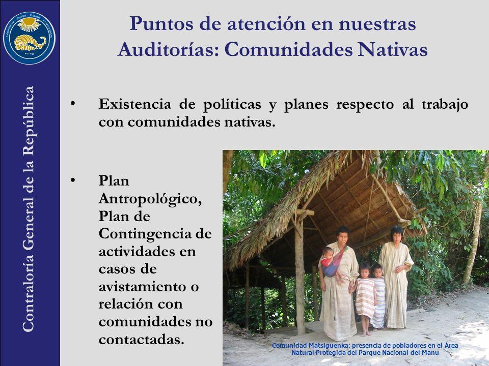 Puntos de atención en nuestras Auditorías: Comunidades Nativas
