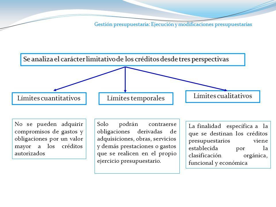 Gestión presupuestaria: Ejecución y modificaciones presupuestarias