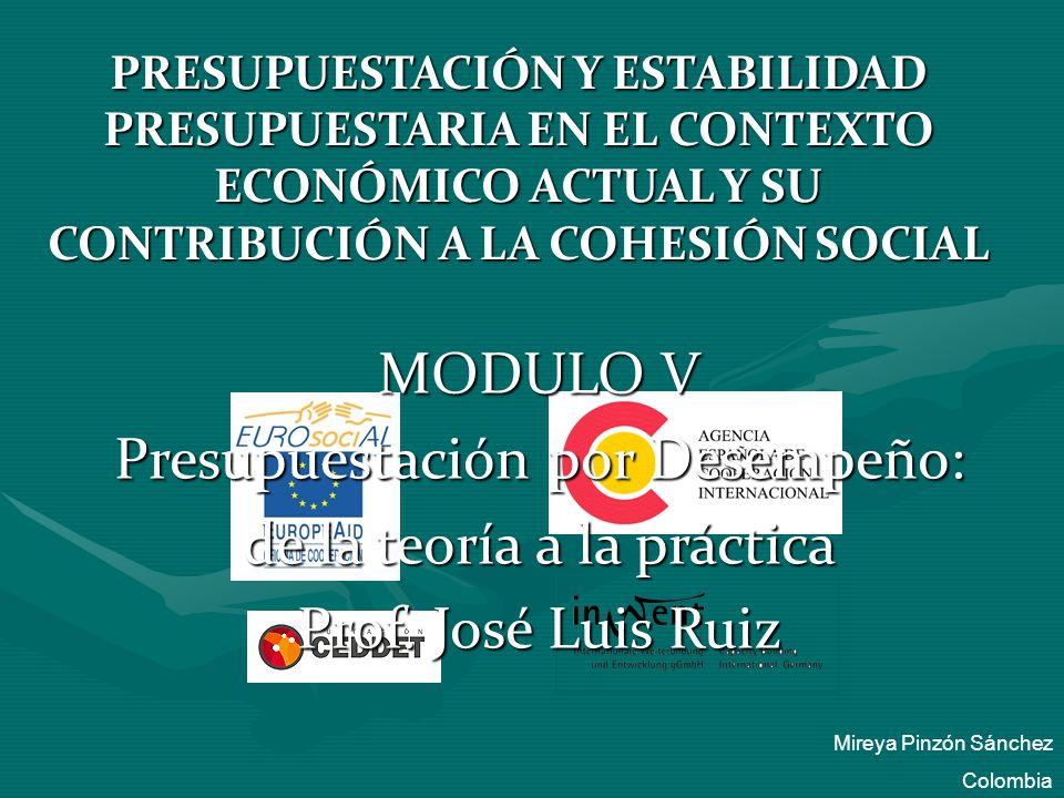 Presupuestación por Desempeño: de la teoría a la práctica