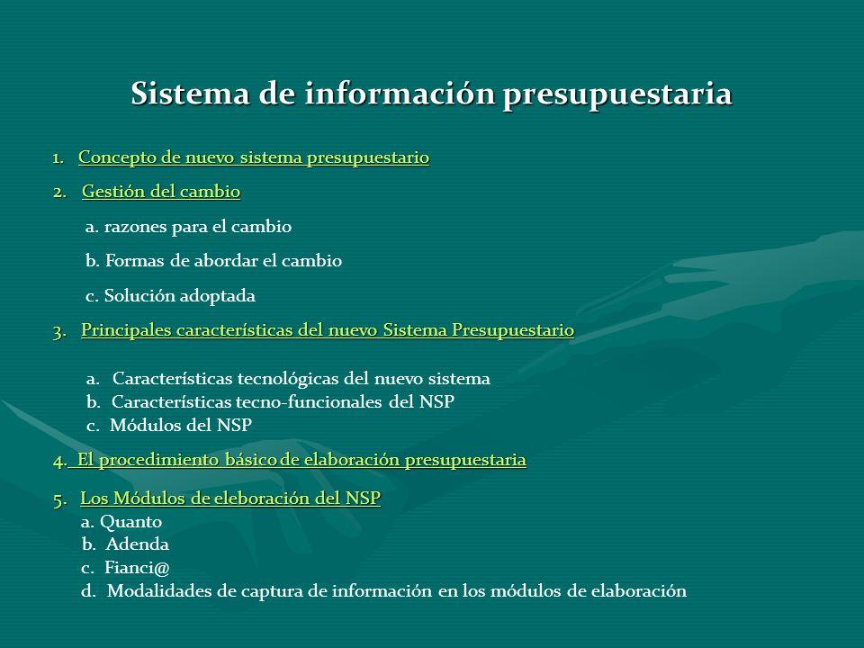 Sistema de información presupuestaria