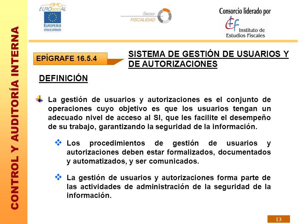 SISTEMA DE GESTIÓN DE USUARIOS Y DE AUTORIZACIONES