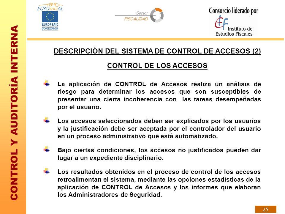 DESCRIPCIÓN DEL SISTEMA DE CONTROL DE ACCESOS (2)