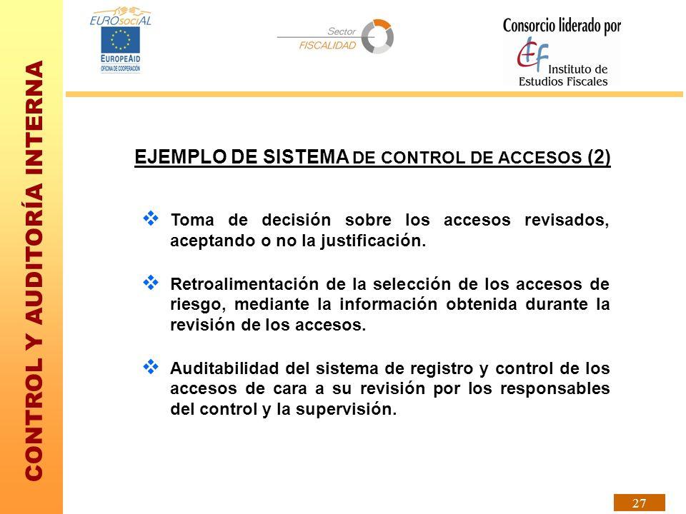 EJEMPLO DE SISTEMA DE CONTROL DE ACCESOS (2)