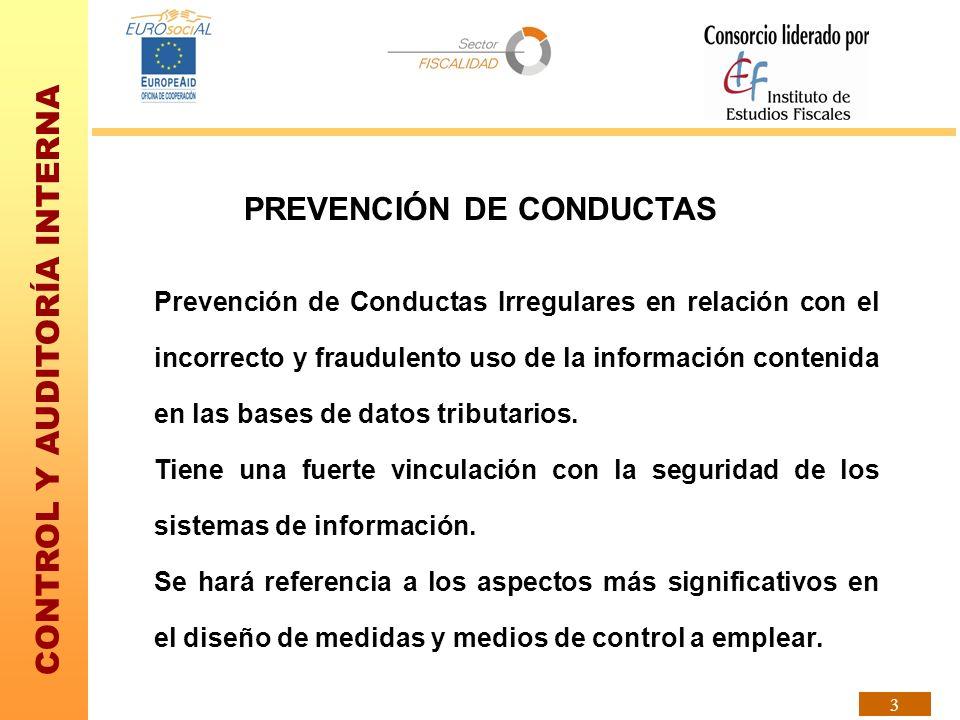 PREVENCIÓN DE CONDUCTAS
