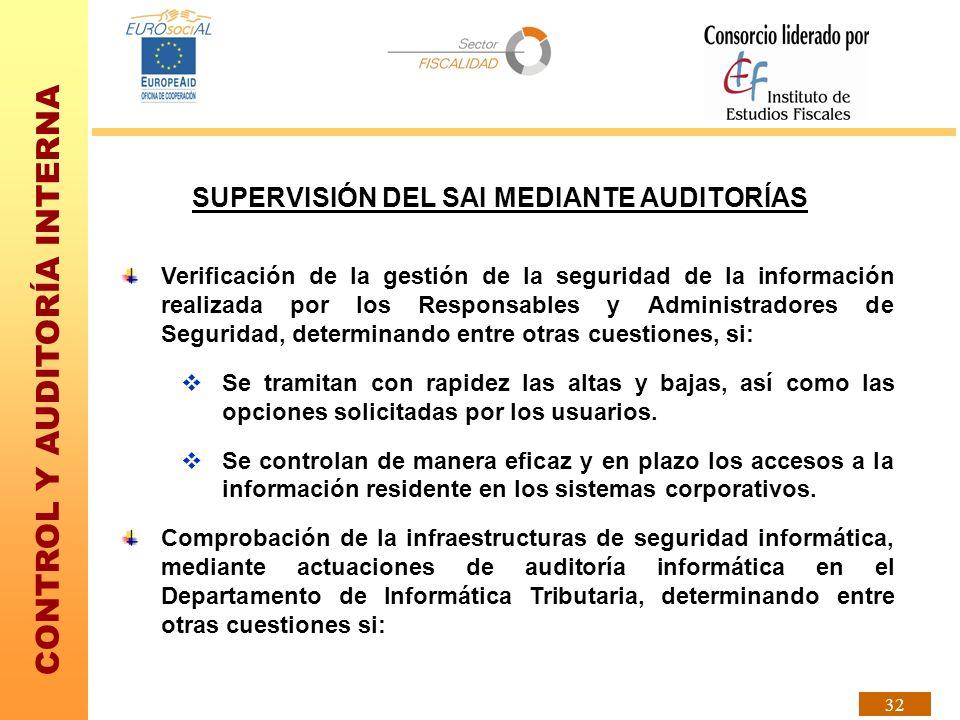 SUPERVISIÓN DEL SAI MEDIANTE AUDITORÍAS