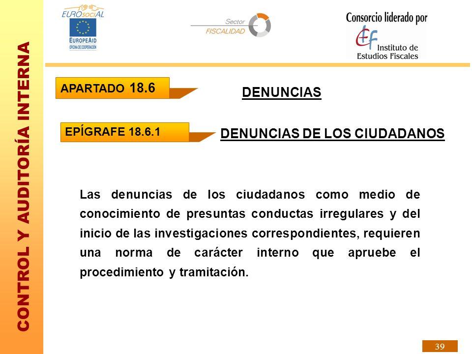 DENUNCIAS DE LOS CIUDADANOS