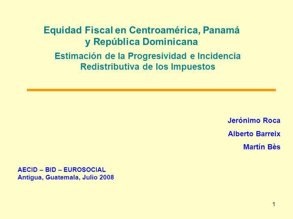 Equidad Fiscal en Centroamérica, Panamá y República Dominicana