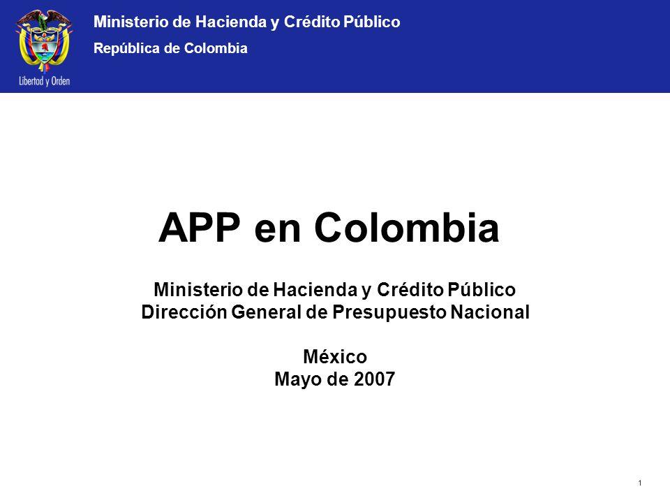 APP en Colombia Ministerio de Hacienda y Crédito Público