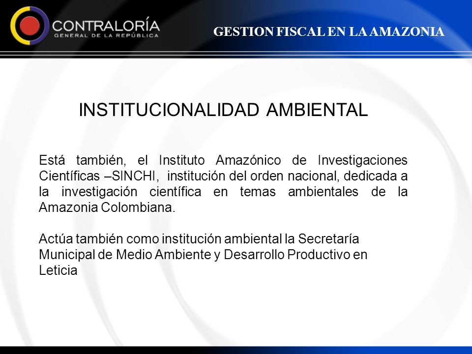 INSTITUCIONALIDAD AMBIENTAL