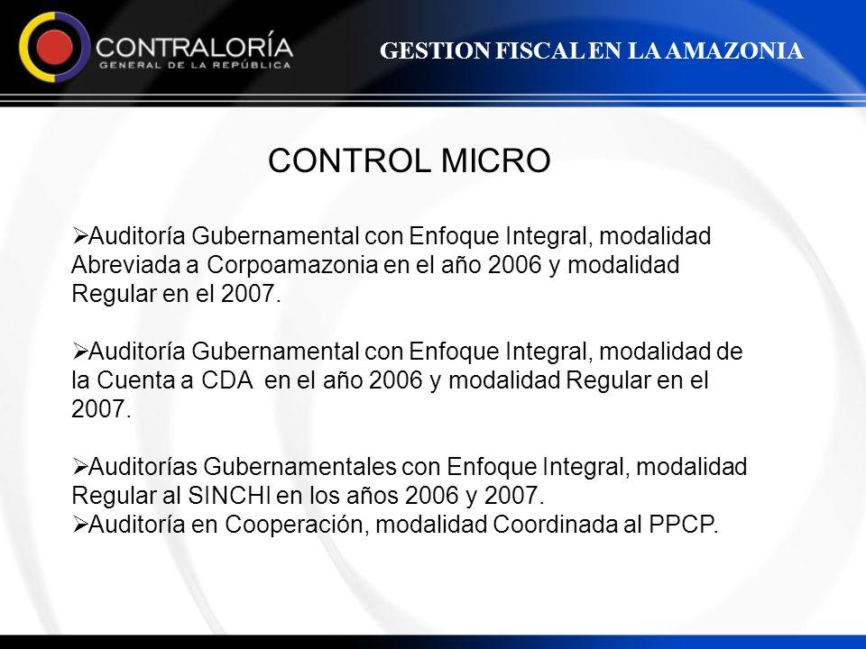CONTROL MICRO GESTION FISCAL EN LA AMAZONIA