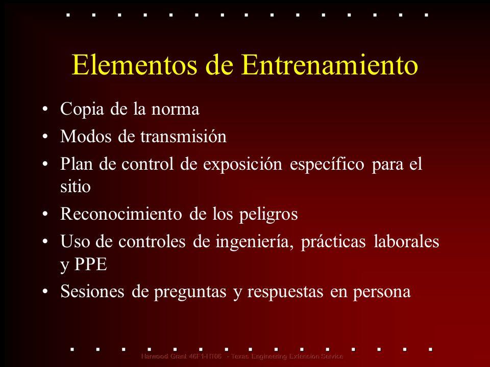Elementos de Entrenamiento