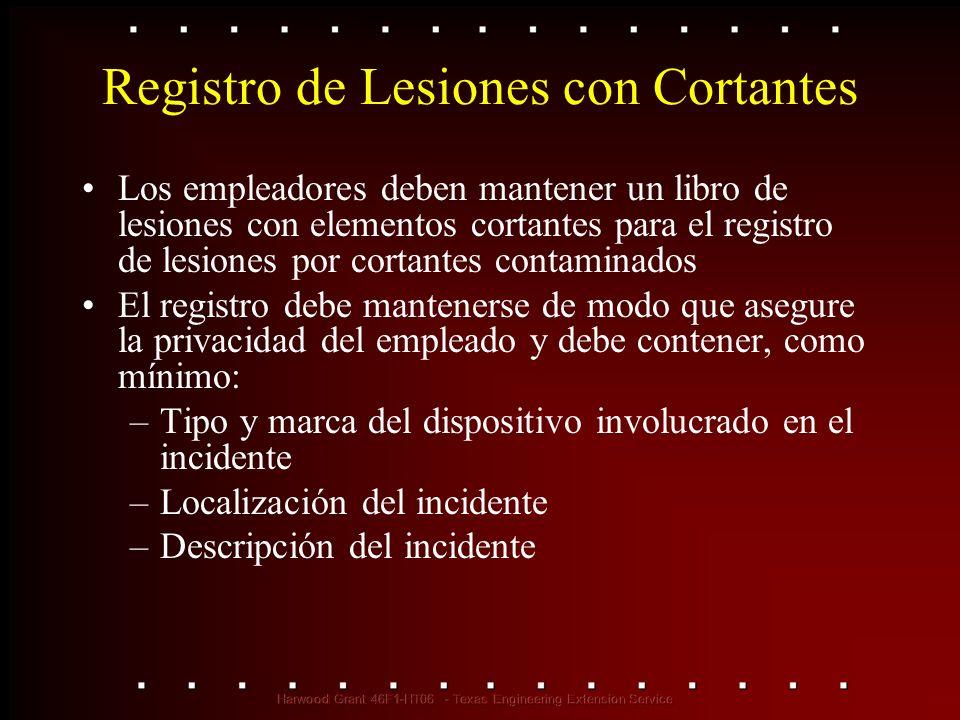 Registro de Lesiones con Cortantes