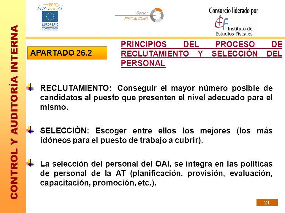 PRINCIPIOS DEL PROCESO DE RECLUTAMIENTO Y SELECCIÓN DEL PERSONAL