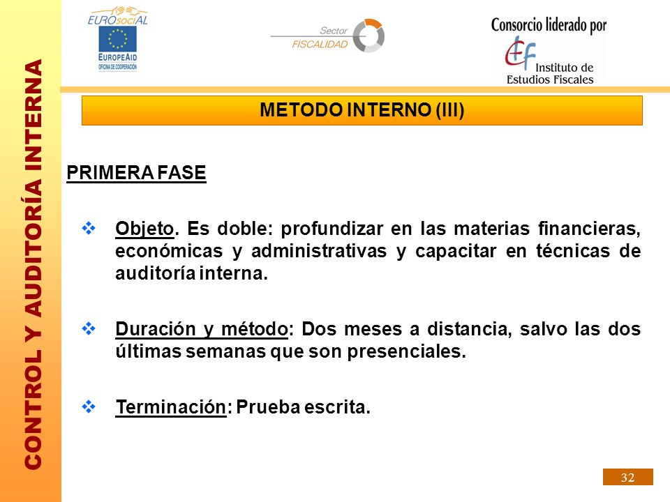 METODO INTERNO (III) PRIMERA FASE.