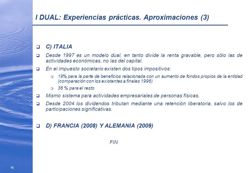 I DUAL: Experiencias prácticas. Aproximaciones (3)