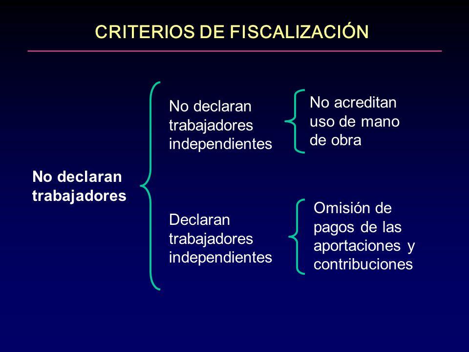 CRITERIOS DE FISCALIZACIÓN
