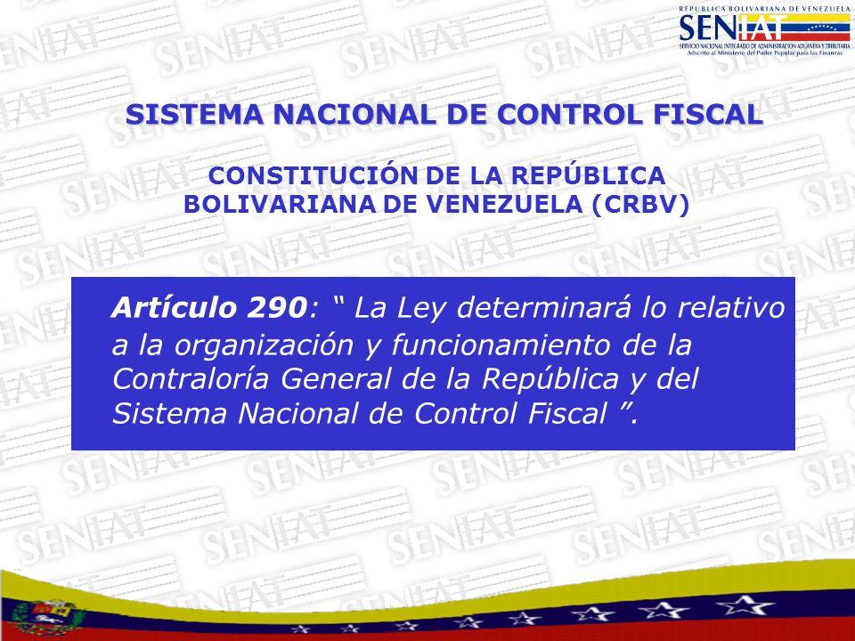 SISTEMA NACIONAL DE CONTROL FISCAL