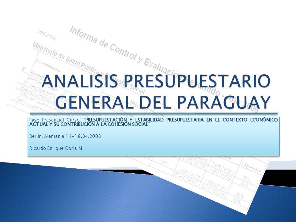 ANALISIS PRESUPUESTARIO GENERAL DEL PARAGUAY