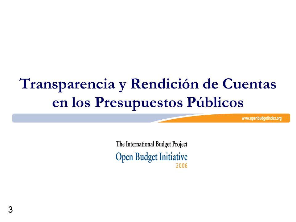 Transparencia y Rendición de Cuentas en los Presupuestos Públicos