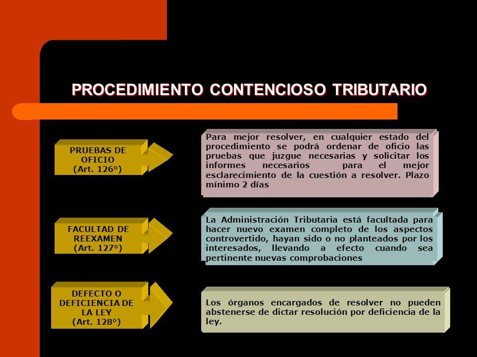 PROCEDIMIENTO CONTENCIOSO TRIBUTARIO DEFECTO O DEFICIENCIA DE LA LEY