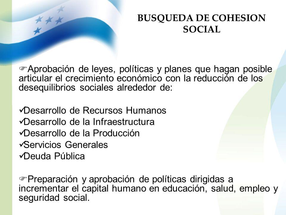 BUSQUEDA DE COHESION SOCIAL