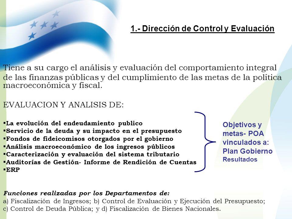 1.- Dirección de Control y Evaluación