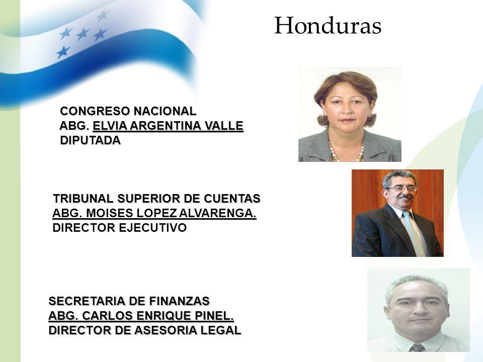 Honduras CONGRESO NACIONAL ABG. ELVIA ARGENTINA VALLE DIPUTADA