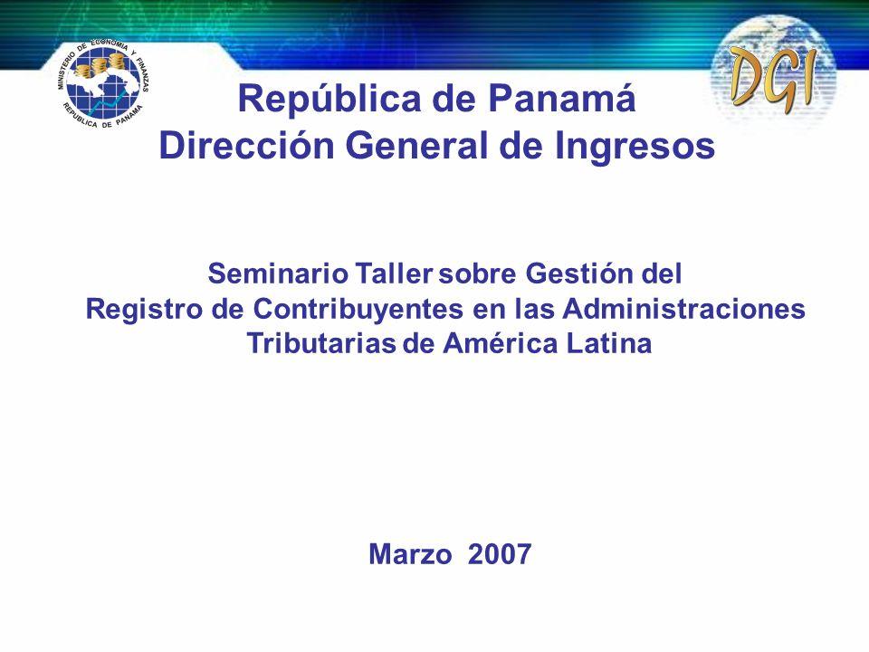 República de Panamá Dirección General de Ingresos