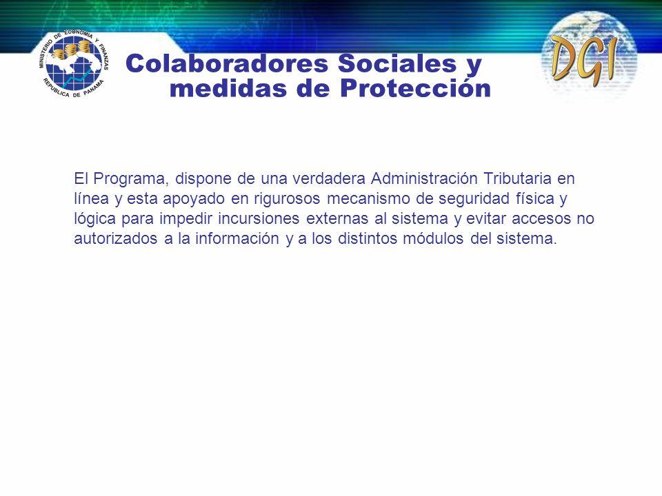 Colaboradores Sociales y medidas de Protección