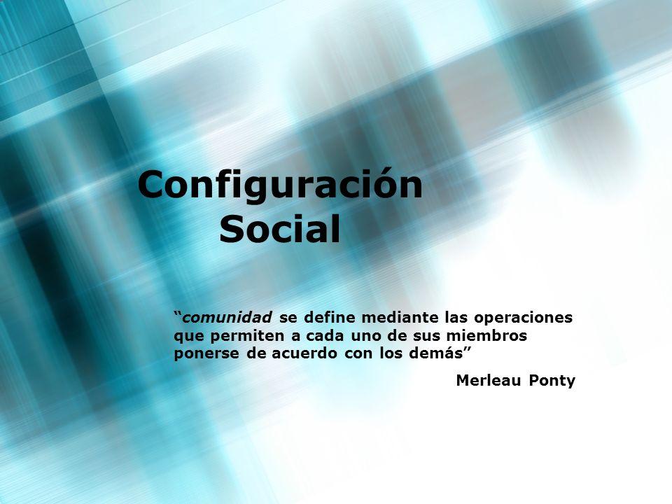 Configuración Social comunidad se define mediante las operaciones que permiten a cada uno de sus miembros ponerse de acuerdo con los demás