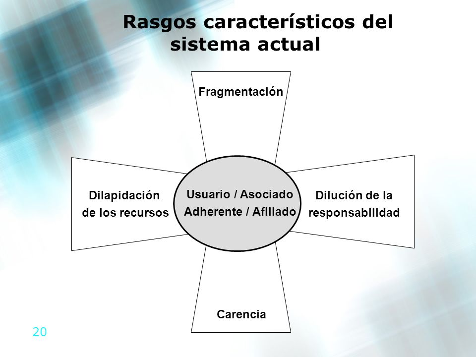 Rasgos característicos del sistema actual