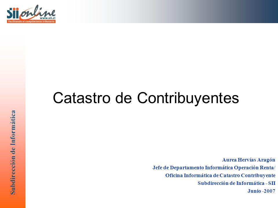Catastro de Contribuyentes